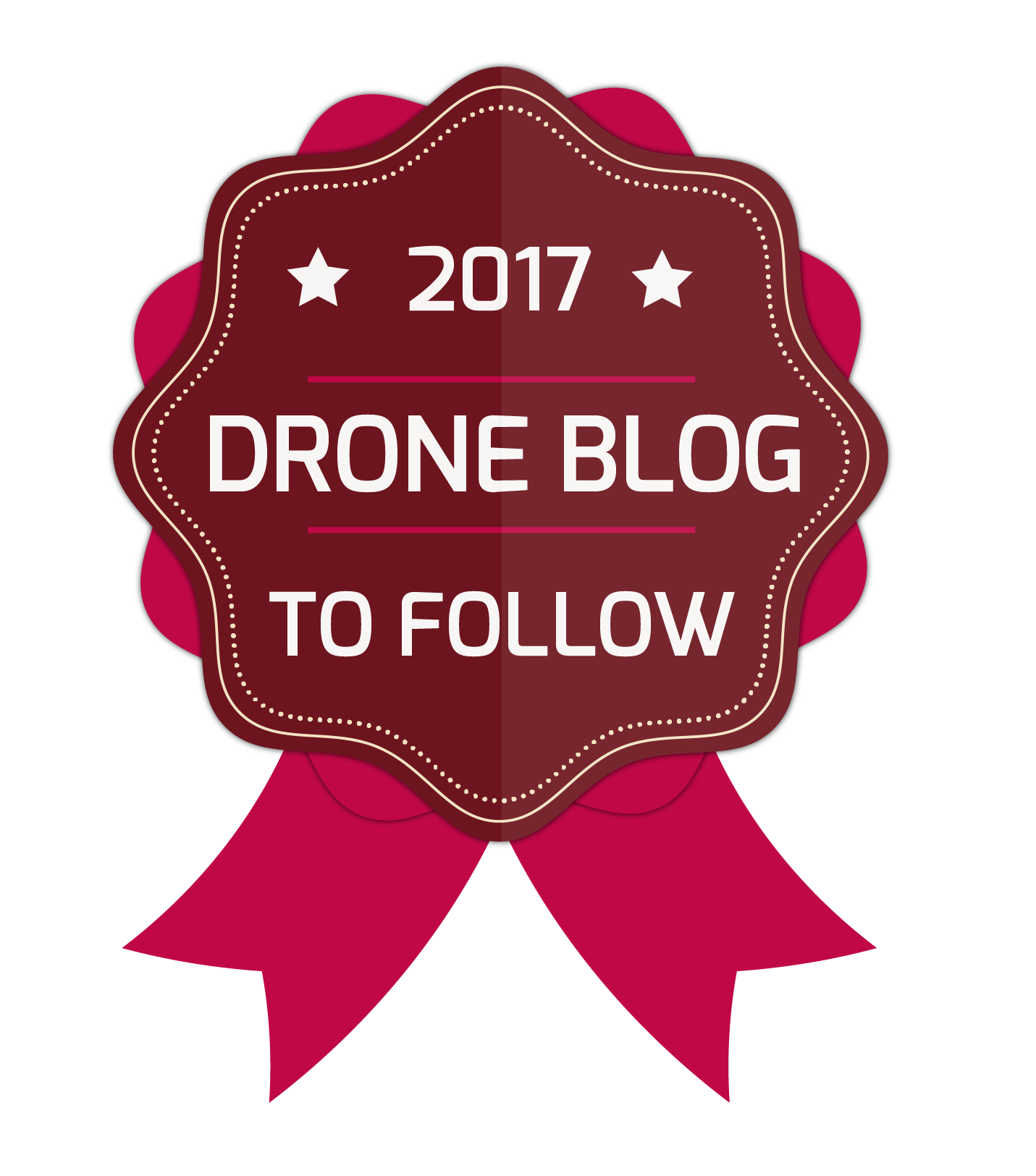 2017 Drone Blog to Follow Award Badge